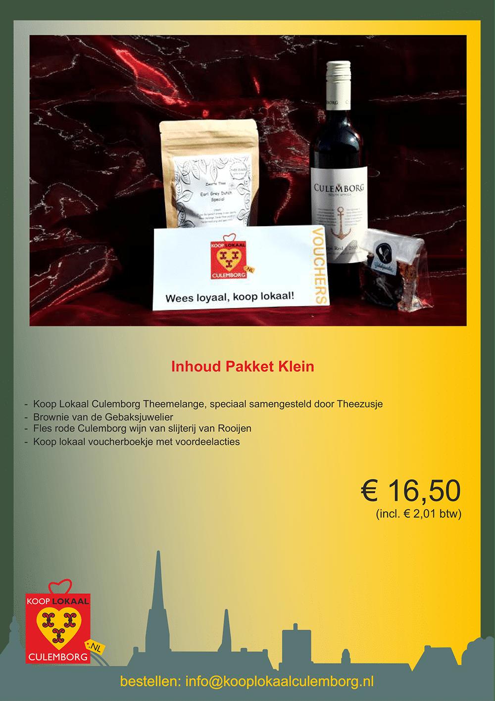 Kerstpakket leaflets klein