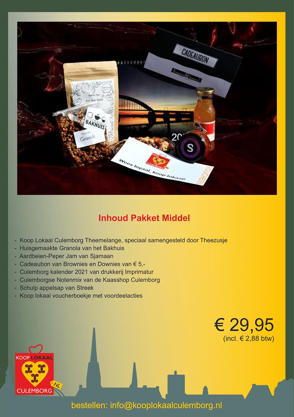 Kerstpakket leaflets middel
